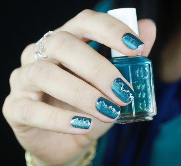 Оригинальный синий маникюр на короткие ногти  ::: onelady.ru ::: #nail #nails #nailart #manicure