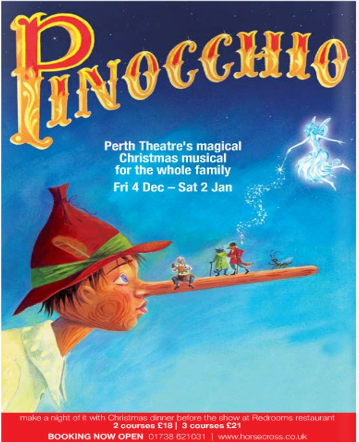 Poster of Pinocchio  in Perth Theatre 's Pantomime Friday 4th December 2009- Saturday 2nd  January 2010