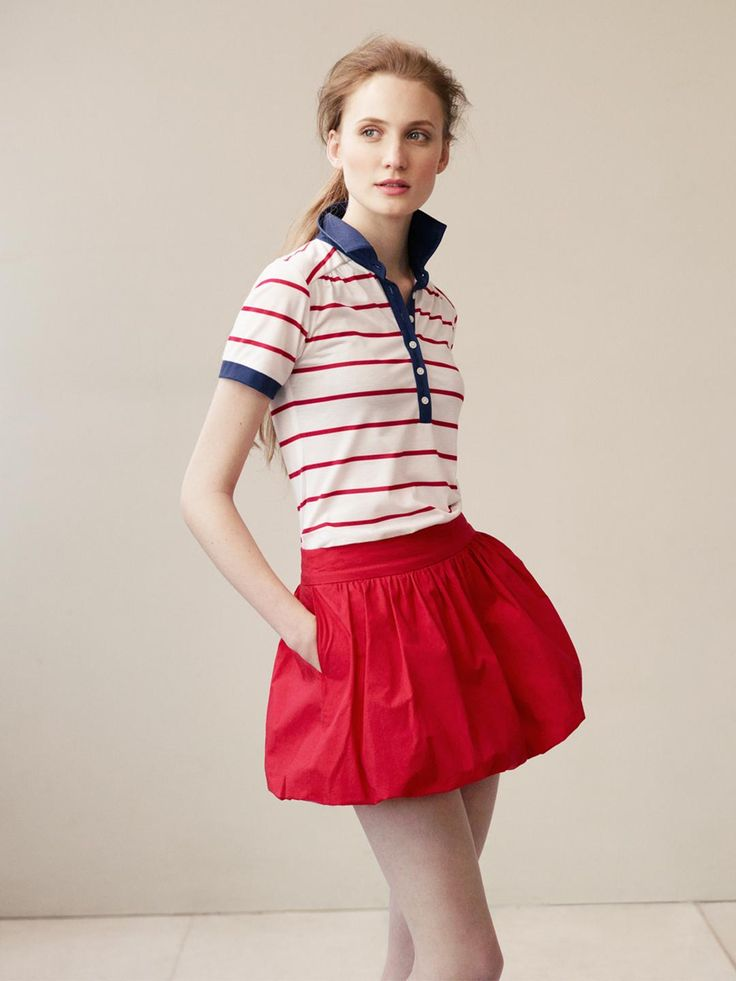 Striped Polo Shirt With Contrast Collar