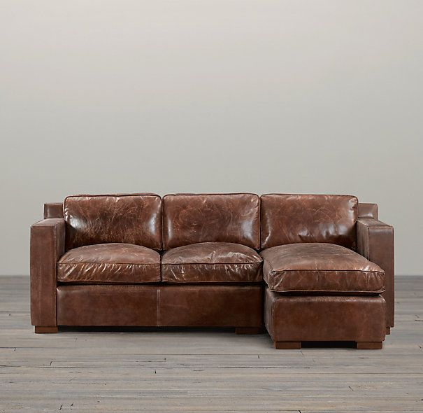 Restoration Hardware Collins Leather Sofa Chaise