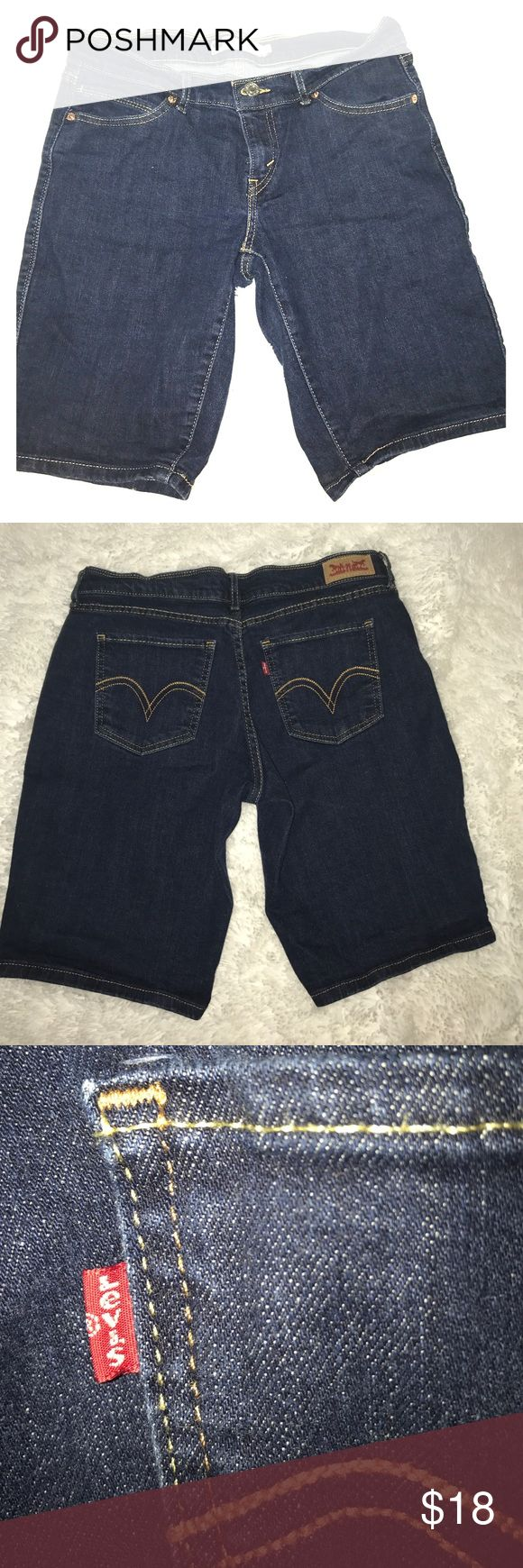 Dark Blue Levi's Bermuda Shorts Levi bermuda shorts. Hardly ever wore them, they're still in great condition and look brand new still. Levi's Shorts Bermudas