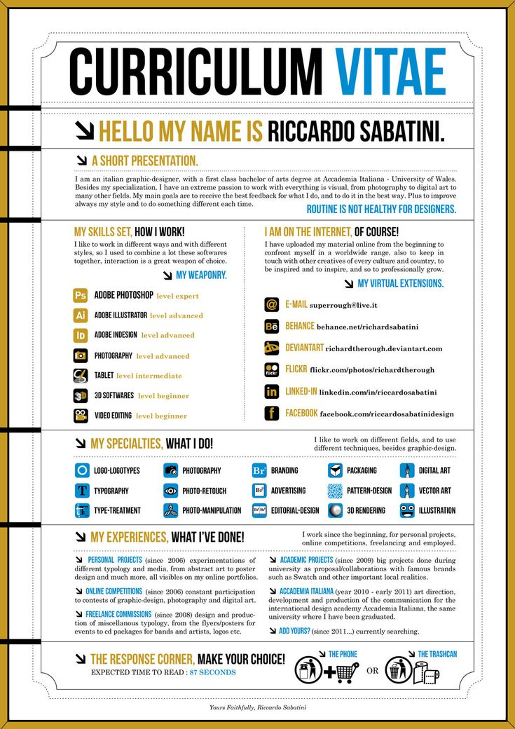 27 Best Curriculum Vitae - Creative Resumes Images On Pinterest