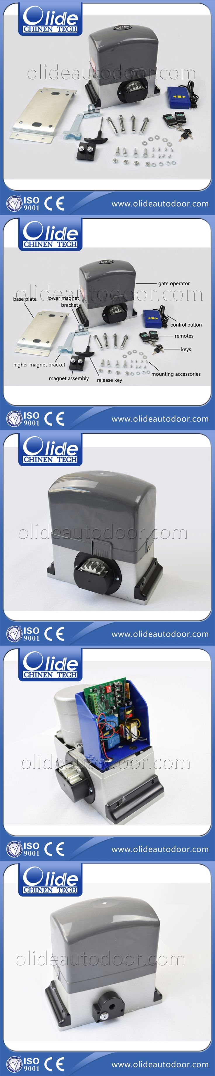 Automatic sliding gate opener for 1000kg-1200kg gate weight