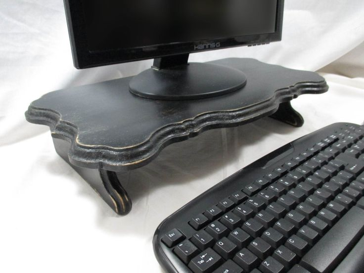 Elegant Monitor Stand, Medium~ Painted by ThePaperSkiff on Etsy https://www.etsy.com/listing/247382045/elegant-monitor-stand-medium-painted