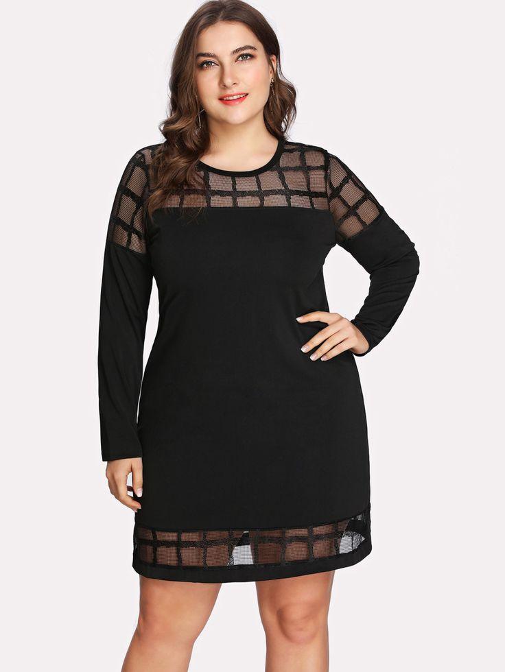 Shop Plaid Mesh Panel Dress online. SheIn offers Plaid Mesh Panel Dress & more to fit your fashionable needs.
