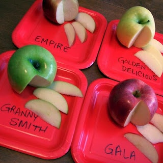 A is for Apple Tasting Fun from B-InspiredMama.com