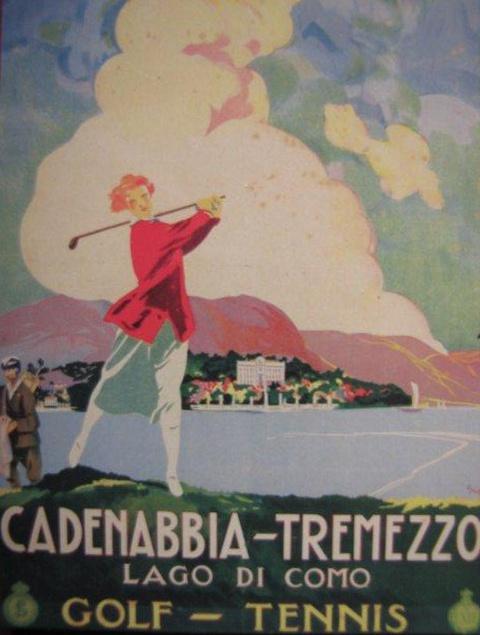 Golf at Cadenabbia-Tremezzo, Lake Como vintage poster