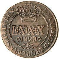 LXXX Réis 1821 R Brasil Colônia