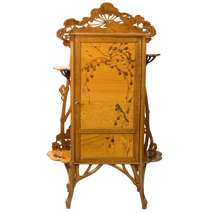 """French Art Nouveau """"Japonisme"""" Cabinet by Emile Gallé   From a unique collection of antique and modern cabinets at http://www.1stdibs.com/furniture/storage-case-pieces/cabinets/"""