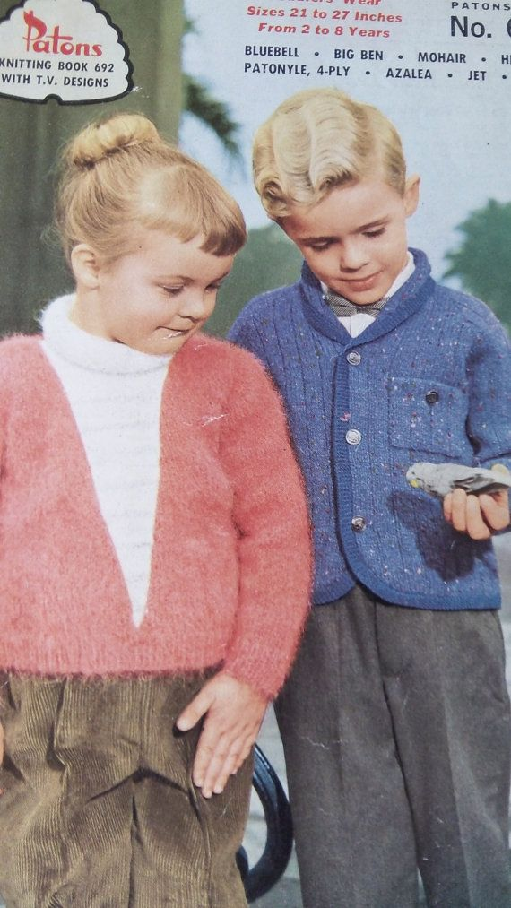 Gorgeous vintage Patons knitting pattern book  by Gladyswasagirl, $6.00