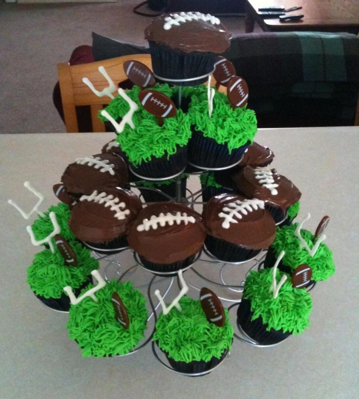 football themed cakes and cupcakes