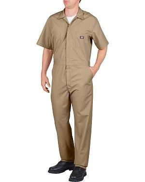 Dickies Short Sleeve Work Coveralls - Big & Tall: Durable short sleeve overalls by Dickies..… #CowboyClothing #Westernwear #CowgirlBoots