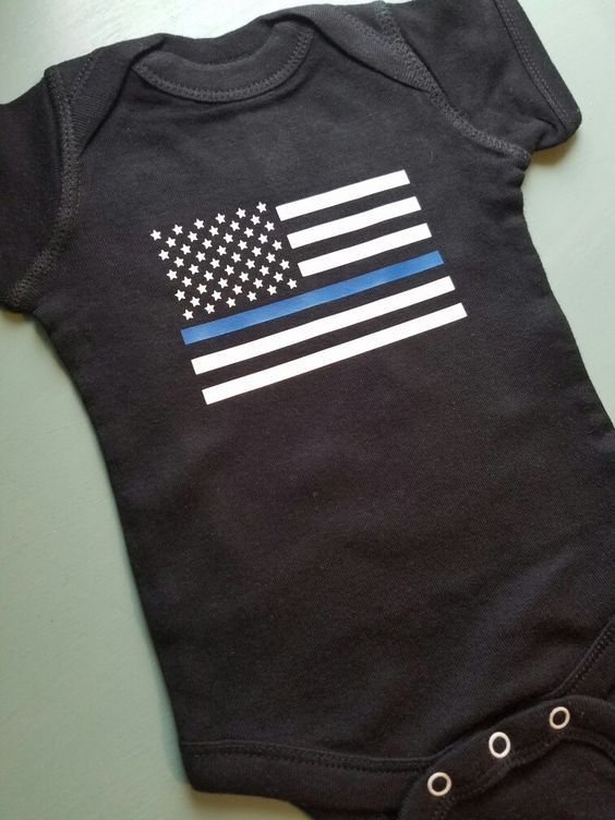 Thin Blue Line Police Baby Onesie. Police Baby by SouthernCharme