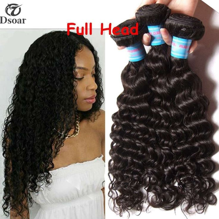 16'' 18'' 20'' Peruvian Deep Wave Hair Weave 3 Bundle Curly Human Hair Extension #Dsoar #WaveBundle