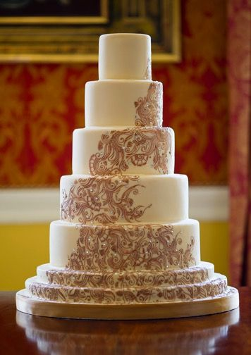 The Beautiful Rani Wedding Cake Designed And Created By GC Couture Cakes Eggless Version Perfect For Your Hindu Ceremony