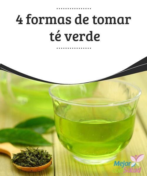 4 formas de tomar #téverde  Aunque el té verde es una de las bebidas más sanas que podemos tomar, no es conveniente excederse. Como mucho podremos tomar 5 tazas al día, o menos si también tomamos #café #Recetas