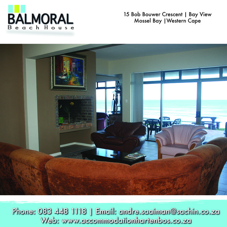 Here at Balmoral the living room is here for you to relax and socialize with the family and just spending time together. And what's amazing about this living room is, is the sea view it has. Call us now: 083 448 1118 E-Mail: andre.saaiman@sachin.co.za #sparebeds #accommodation #Hartenbos