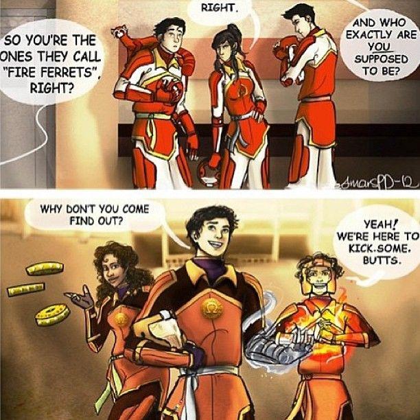 Yes. Just Yes. Korra, Bolin, and Mako vs. Percy, Hazel, and Leo