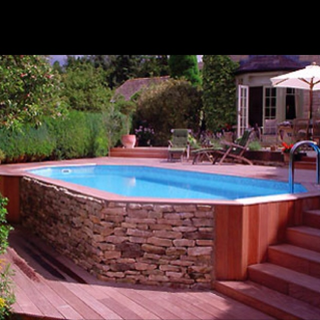 Cool above ground pool my dream home pinterest - Cool above ground pools ...