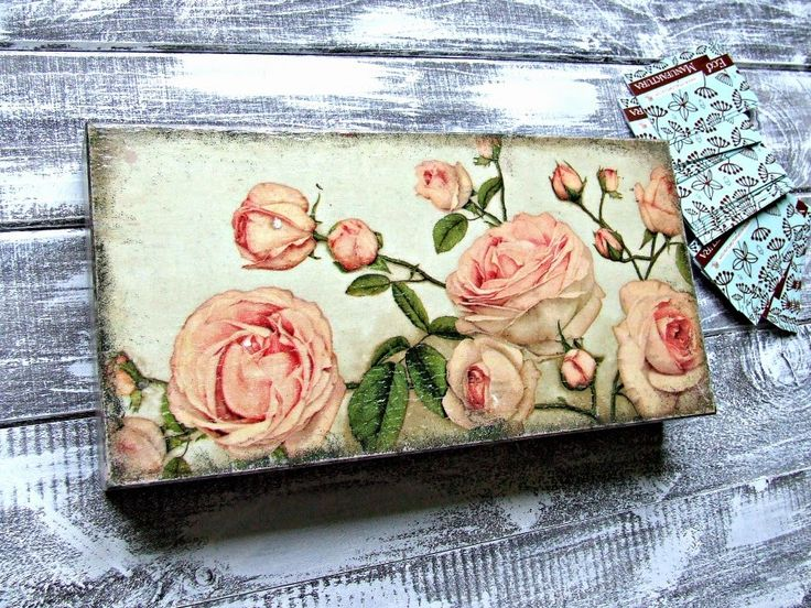 Memories box decoupage