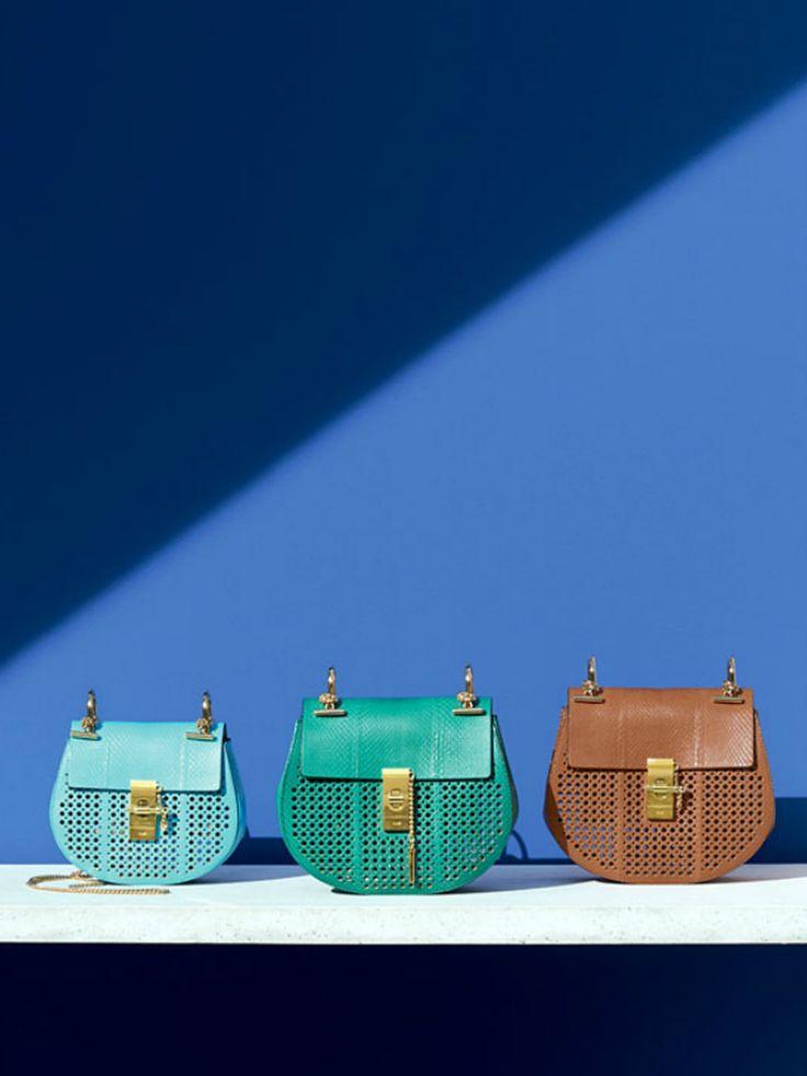 chloe look alike handbags - 2015 Spring Chloe Drew Perforated Bags in Small and Medium Small ...