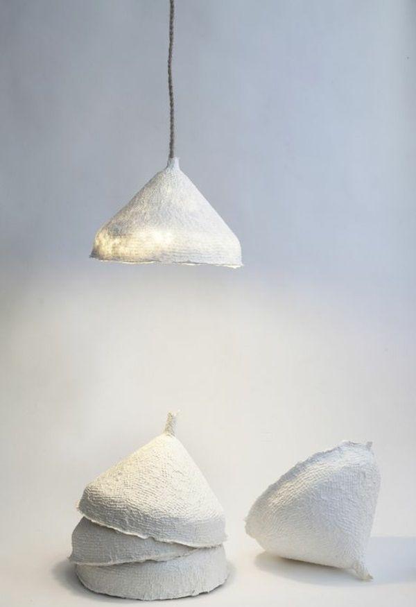 kronleuchter papier basteln hängend tischlampe