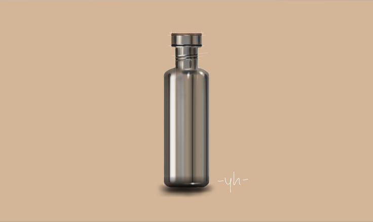 #KleanKanteen #Reflect. Created using #SketchBookPro #productdesign #industrialdesign #idsketching