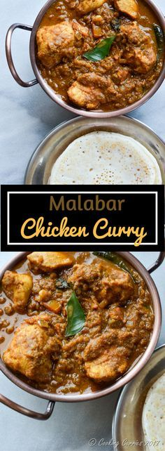 Malabar Chicken Curry Recipe, Indian Curries' Recipes, Kerala Food Recipes @ @cookingcurries via @topupyourtrip