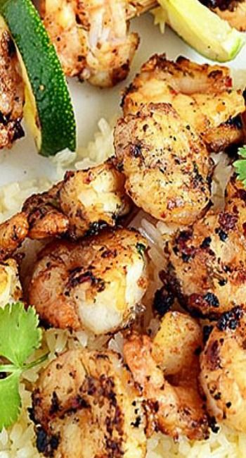 Spicy Coconut and Lime Grilled Shrimp Scampi.