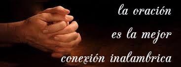 la oración es la mejor conexión inalambrica...