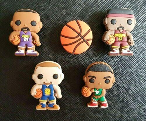 5 x NBA Basketball Shoe Charms Made For