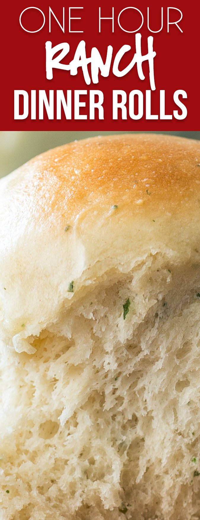 These One Hour Ranch Dinner Rolls are filled with a subtle and delicious ranch flavor and hot and ready in just 1 hour! via @iwashyoudry #RanchOut #AD