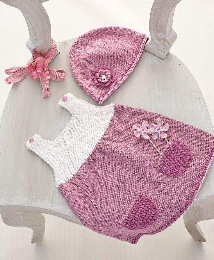 Que ce soit pour un cvadeau naissance ou pour vous même, tricotez cet ensemble bébé pour l'été