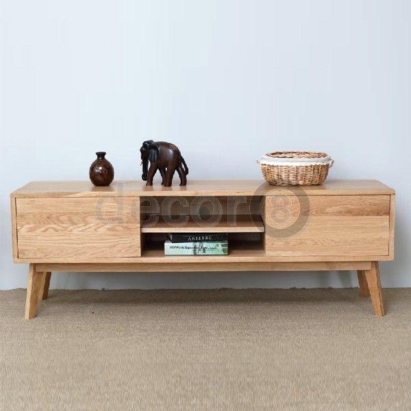 Decor8 Hong Kong Modern Furniture and Home Decor Scandinavian Style Kobe Solid Oak TV Cabinet and Sideboard