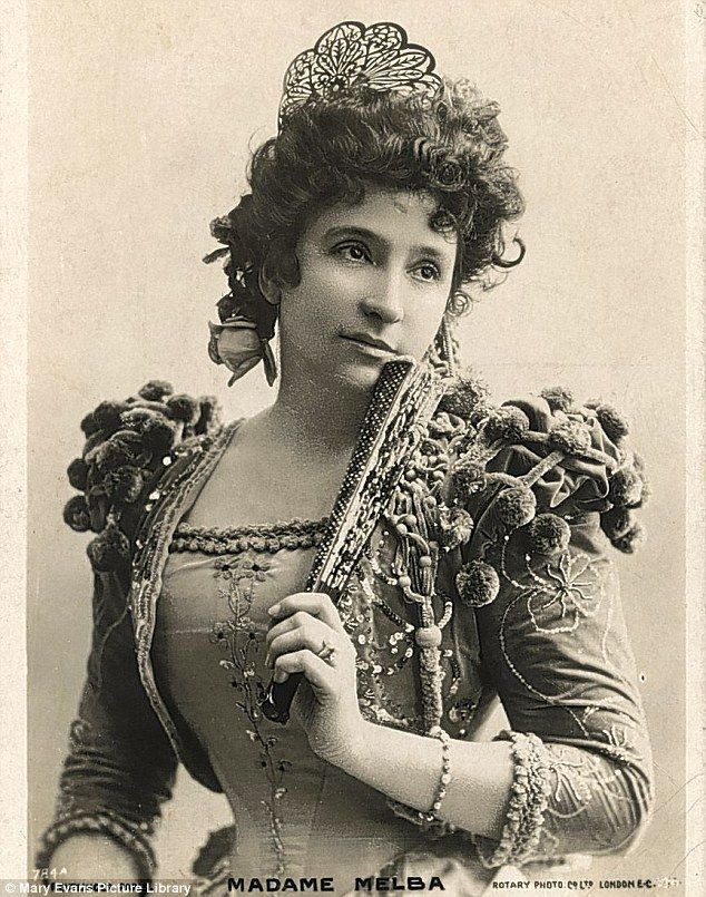 Nellie Melba (originally, Helen Porter Mitchell) Australian soprano, probably in the role of Bizet's Carmen. Now, played by opera singer Dame Kiri Te Kanawa, she will be the first real person to be portrayed in Downton Abbey