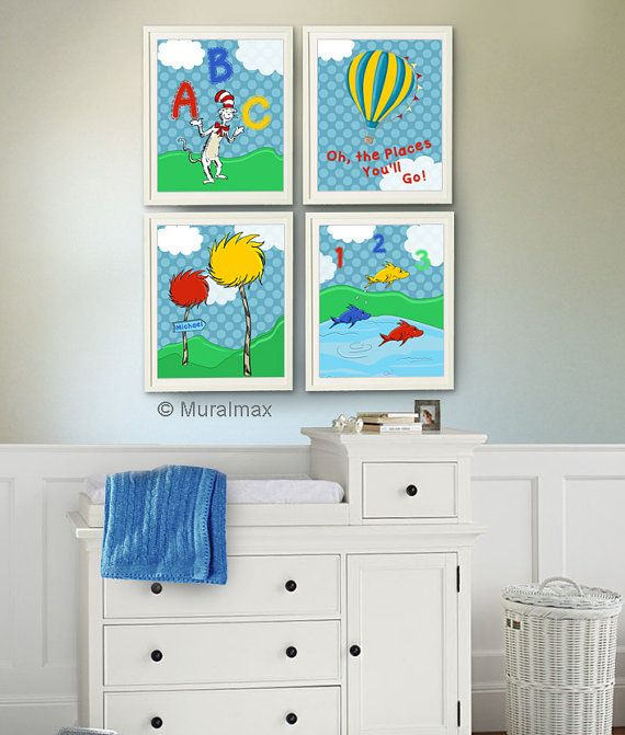 191 best dr seuss baby theme images on pinterest dr for Cat in the hat bedroom ideas