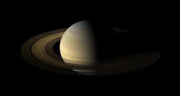 When Saturn S Equinox Is Viewed From Earth The Rings Are Seen Edge On And Appear As A Thin Line Sometimes Giving T Saturn Nasa Solar System Our Solar System