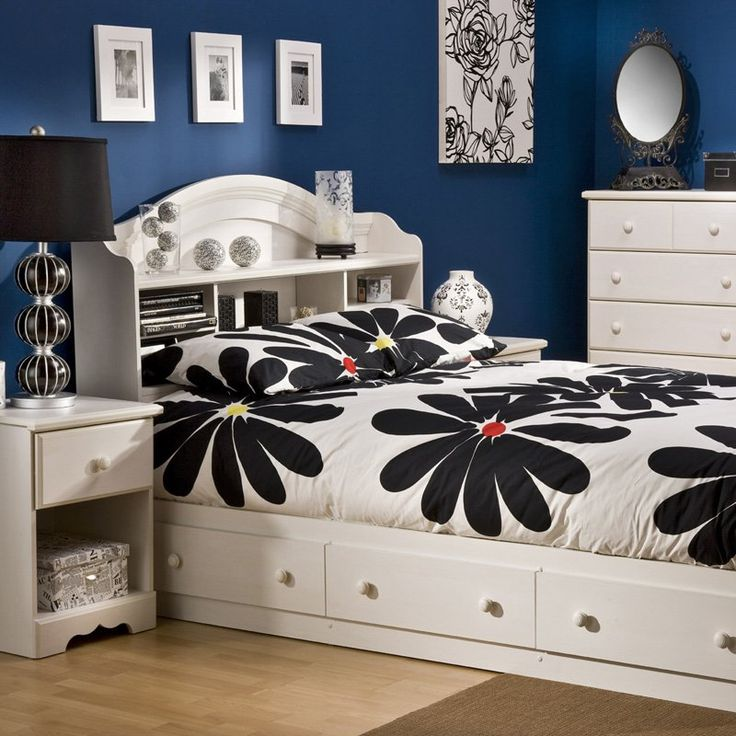 Have to have it. South Shore Summer Breeze Mates Vanilla Bookcase Bed Collection - $597 with night stand @hayneedle
