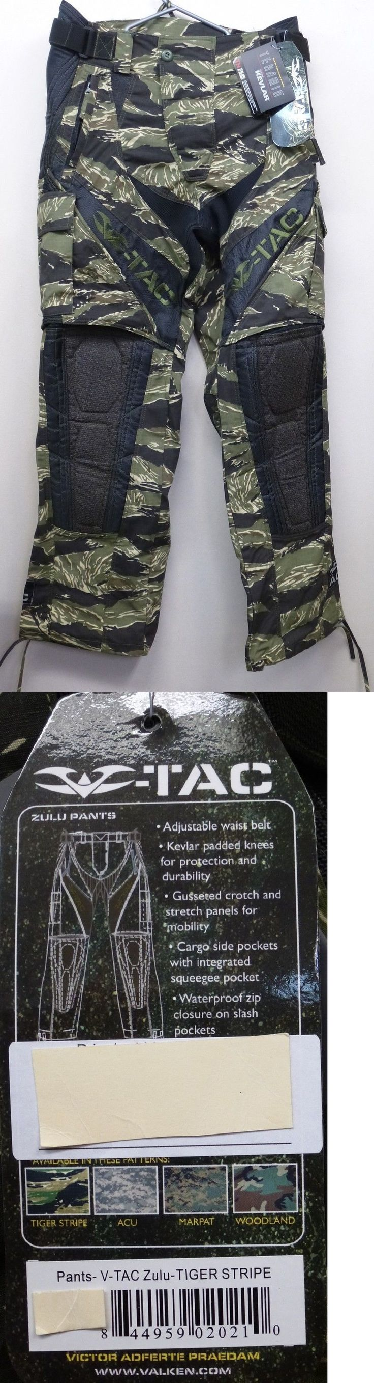 Pants and Shorts 165940: Valken V-Tac Paintball Pants Zulu Tiger Xl New -> BUY IT NOW ONLY: $98.99 on eBay!