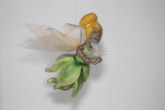 Felted Fairy Tinker Bell doll by RozalkaFeltAndWool on Etsy