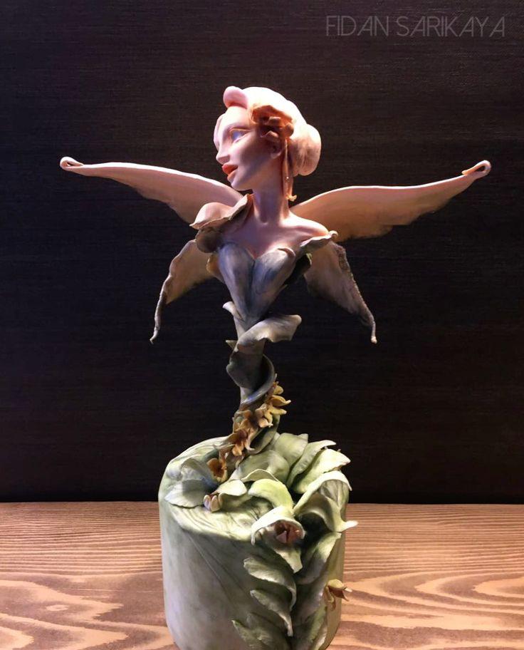 Delicate butterfly ,sugarart ,fondant figure ,