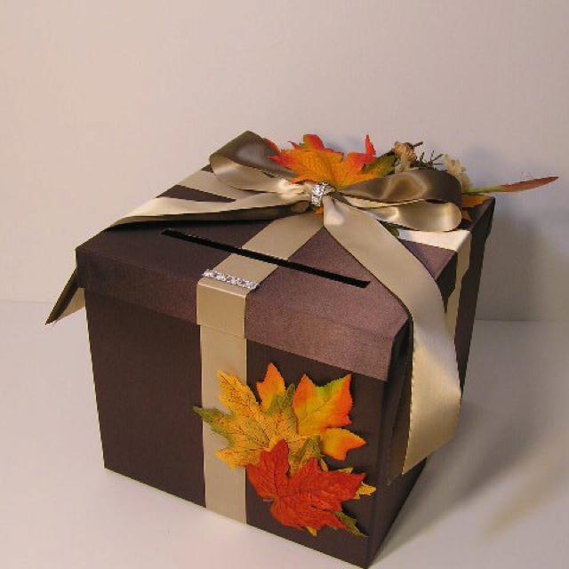 Fall Wedding Card Holder Ideas: Fall Themed Wedding Card Box