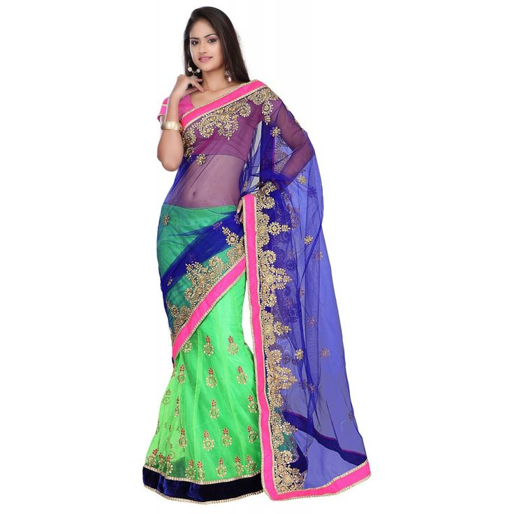 Style sensus Nakashi Blue And Green Saree