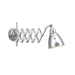 Home Decorators Collection 1 Light 95 In Chrome Accordian Swing Arm Lamp