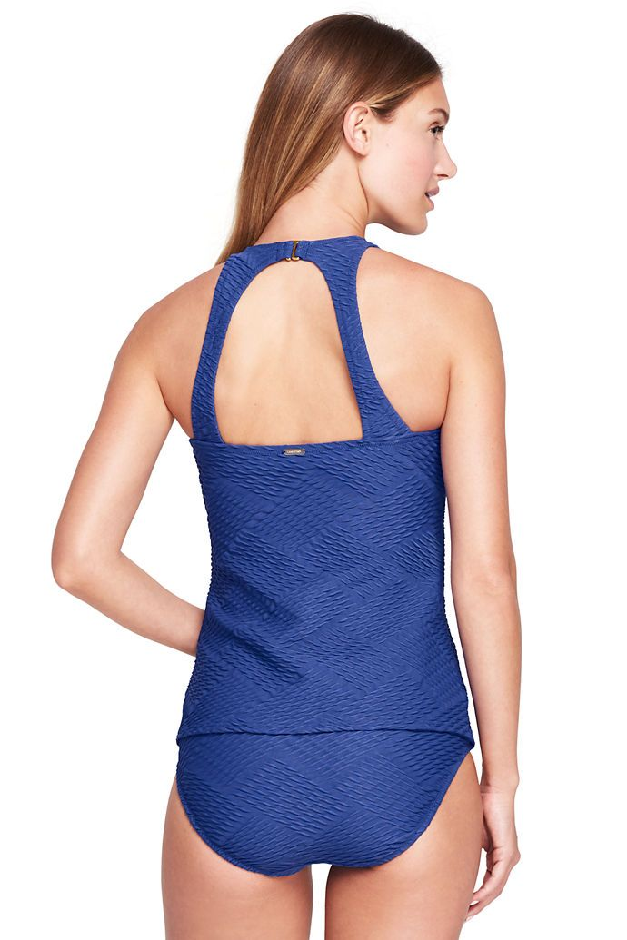 725a87e681 Women s Texture High-neck Tankini Top from Lands  End