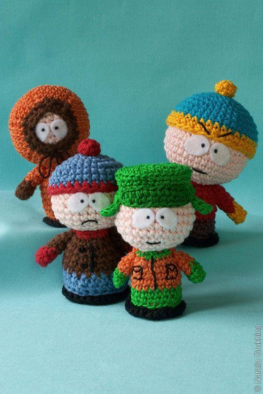 Amigurumi Cartman : South Park, Kenny, Stan, Kyle and Cartman Amigurumi ...