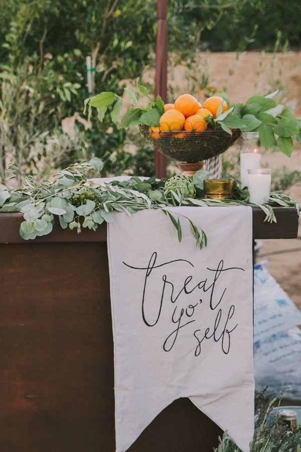 wedding sign - photo by Fondly Forever Photography http://ruffledblog.com/california-orange-grove-wedding