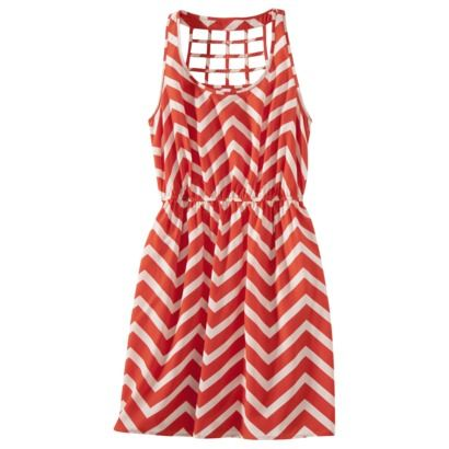 Might be a nice game day dress... Xhilaration® Juniors Open Weave Sleeveless Dress - Assorted Colors