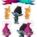 Topo de Bolo Trolls