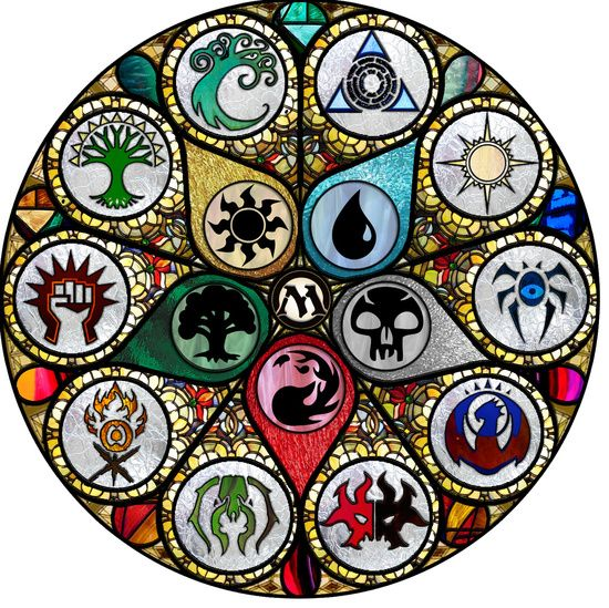 """Magic the Gathering - Stained Glass Art Print  """"I need this in my life!!!!"""""""